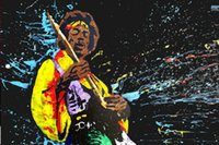 puffy paint - Custom Jimi Hendrix Painting Poster x75cm High quality Print bedding room Posters For Christmas Gift