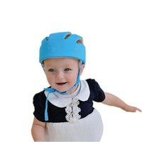 Wholesale Baby Safety Helmets Cotton Infant Protective Hat Headguard for Newborns Boys Girls Crashproof Anti shock Hat SafetyCap for Baby