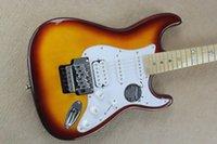 antique body - St custom HSS plus top electric guitar star inlay fingerboard Antique Sunburst F ST guitar EMS