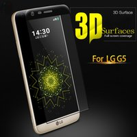 Wholesale 9H D FULL COVERED TEMPERED GLASS SCREEN PROTECTOR FOR LG G5 SCREEN PROTECTOR FLIM WITH RETAIL BOX