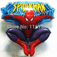 balloon jump - Large size Hydrogen Jump Type Spiderman Helium Foil Balloons For Kids Birthday Party Wedding Decoration toys