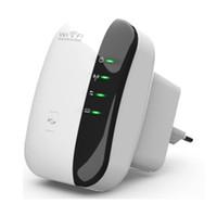 achat en gros de routeur wifi amplificateur-Wireless WiFi Repeater 802.11n Router Amplificateur de gamme de signaux Amplificateur 300Mbps Signal Extender Booster