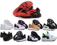 adult sizes kids - 2016 Air huarache triple Original quality black huarache adult men shoes For online hot sale kid size