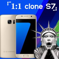 Wholesale 2016 New Arrival Real G LTE S7 s7 Phones MTK6582 bit Quad Core x1080pixel GB GB Android Cell Phone Metal Frame Smartphone