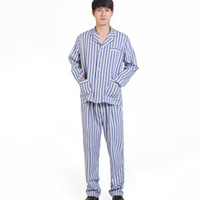 Wholesale Women Men Pajamas Set Long Sleeved Stripe Spring Autumn Sleepwear Unisex Casual Homewear Couples Lounge Wear JK0046 smileseller