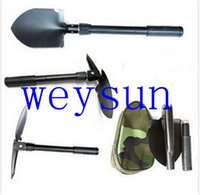 Wholesale Mini Multi function Folding Camping Shovel Survival Trowel Dibble Pick Outdoor tool