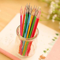 Wholesale Retail Diamond Head Pen Refills Creative Stationery Candy Color Gel Pen Refills Colors Painting Drawing Papelaria