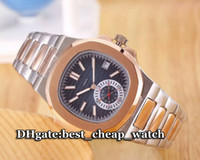 best tang - Super Clone A Automatic Gent Watch A Nautilus AR TWO TANG Rose Gold Mens Classic Brand Mens Best Watch PP03