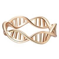 animal dna - Handmade Gold Silver Dna Ring Chemistry Science Ring Molecule Rings Infinity Pattern Jewelry Wrench Ring Jewelry
