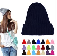 beaches couples resorts - 2016 Unisex Fluorescent Colorful Autumn And Winter Warm Women Men Wool Hat Couples knitted cap pointed hats Beanies Elastic