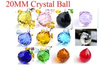 Wholesale 100 AAA Quality Guaranteed mm K9 Crystal Faceted Balls With rings Crystal Chandelier ball colors available