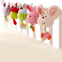 bell carts - Baby Cart Bed Bell Music Box Toys Plush Cloth Bed Hanging Music Box Rattles Cloth Educational Doll Appease Baby Sleep Toy