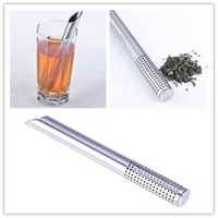 Wholesale 2pcs per Stainless Steel Tea Infuser Stick Filter Steeper Strainer for Herbal Loose Tea