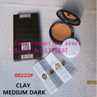 Wholesale IMAN CLAY MEDIUM DARK Makeup face Pressed powder Make up loose Powder mineralize skinfinish magnet Powder