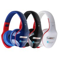 Wholesale AT BT808 Foldable Wireless Bluetooth Stereo On ear Headphone Headset Noise Canceling FM TF Card Supported with Mic