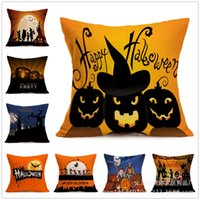 Wholesale Nordic Fashion Halloween Owl Printed Pillow Bed Sofa Cushion Home Decorative Throw Pillow Fundas Para Almofadas Cojines