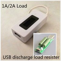 battery resistor - LCD USB Mini Voltage and Current Detector Mobile Power Charger Tester Meter with load resistor
