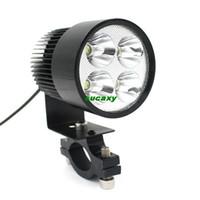 Wholesale New Super Bright DC V V Universal Motorcycle Lighting E bike W LEDs LED Modified Headlight Lamp bulbs Black DHL