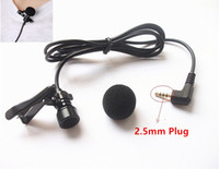Wholesale Mini Portable Hands free mm Jack Wired Lavalier Microphone Mic for iPad Computer Laptop Loudspeaker