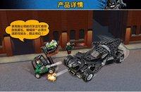 Wholesale Marvel minifigures LEPIN Super Heros batman legoe model toys Batmobile Kryptonite interception Batman Luthor Building Blocks Kit
