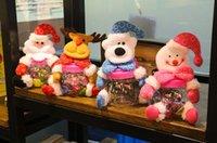 venda por atacado bonecos de plástico-Decorações de Natal criativo dom Caixa de biscoitos de plástico doce frasco Comida receber caso Papai Noel etc bonecas cobrir