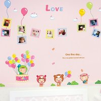 balloon wall framing - Three Generations of children s room decor nursery wall stickers removable balloon doll photo frame sticker AM7035