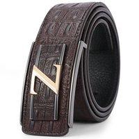 Wholesale Brand New designer belts fashion mens designer belts mens belts luxury Genuine Leather belts for men Crocodile belt colors