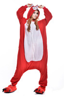 Wholesale 2016 Adult Warm Cartoon Fox Pajamas Cosplay Jumpsuit Pyjamas Onesie Homewear Lounge Wear Sleepwear Hooded Sleepsuit Kigurumi