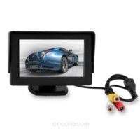 Wholesale 4 Inch TFT LCD Car Rearview Mirror DVD Monitor Support rotatable screen Auto switch when reversing QP0013 M37673