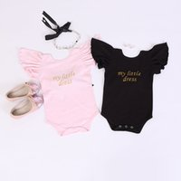 Cheap Hug Me Newborn Baby Rompers 2016 Summer Cute Fly Sleeve Bow Fashion Lace Cotton Romper for Infant Toddler Clothing MK-487