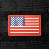 backpack flag patches - American Flag Patch PVC Tactical Patches Combat Hook And Loop armband Rubber Badge For BDU Caps Backpacks Bags Jackets
