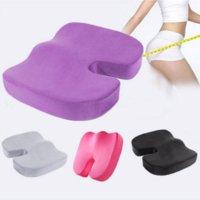 Wholesale R1B1 New Universal Coccyx Orthopedic Memory Foam Seat Cushion for Chair Car Cheap cushion chairs