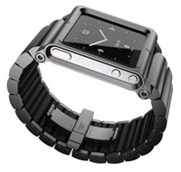 apple nano generations - Black Silver Aluminum Multi Touch Wrist Watch Band Strap for Apple iPod Nano th generation