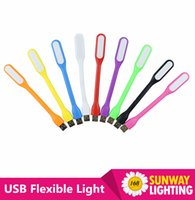 Wholesale Mini Flexible Xiaomi LED USB Light Lamp Portable Eye Protection For Power Bank Computer PC Notebook Laptop Tablet Micro USB Gadget