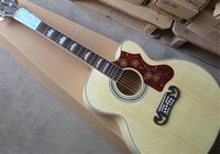 Wholesale On Sale Nature Burlywood Spruce Top J200 NA Maple Sides Back Acoustic Guitar China Custom Factory