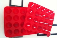 Wholesale Cake Stick Pops Cookies Pop Tray Mould Cupcake Baking Mold Party Silicone Kitchen Baking Moulds Tools