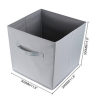 Wholesale 2015 New Grey Large Waterproof Foldable Fabric Organizer Storage Box Baskets cm For Cloth Toys Shoes