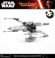 animal etchings - XWING STAR FIGHTER Inch Sheets Creative gift English packag Star Wars Chinese Metal Earth D Metal Model Etching Puzzle