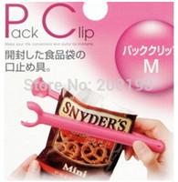 Wholesale SMILE MARKET piece Lengthen Type Solid color Sealing Bag Clips Random Mix Sent Colors