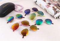 Wholesale Hot sell Kids classic designer sunglasses reflective color frog mirror sunglasses Uv protection sunglasses