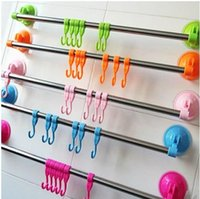 Wholesale Towel rack creative home a powerful suction cup towel rack kitchen bathroom toilet Towel Racks