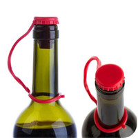 Wholesale New Kitchen Anti lost Silicone Hanging Button Seasoning Beer Wine Cork Stopper Plug Bottle Cap Cover Perfect Home Kitchen Tools DHL FREESHIP