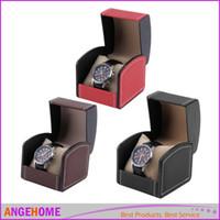 Wholesale Luxury PU Leather Watch Box Gift Boxes Leather Watch Box with Pillow Watch Packaging For Bangle Ring Earrings Wrist Watch Box