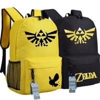 anime school bags and backpacks - The Legend of Zelda Unisex Oxford Backpack Hot Anime Game Teenagers School Bag Shoulders Book Bag Styles