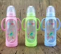 Wholesale maternal and child supplies Mumlove baby feeding bottles with PP material Standard aperture Double handle baby bottles ml
