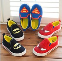 bat print fabric - kids shoes super hero fashion shoes children cartoon shoes canvas shoes casual shoes for boy bat man spider man shoes