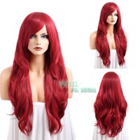 apples synthetic wig - 100 cheaper Brazilian lace false hair American black women synthetic hair wigs for Cosplay gt gt Heat Resistant Long Curly Candy Apple Red