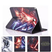 air force war - Star Wars The Force Awakens Stormtrooper Jedi Knight Black Darth Vader PU Leather Case Cover For iPad air Mini Folding Case