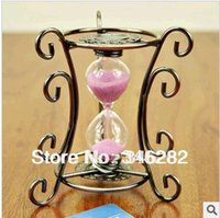 Wholesale wedding gift small hourglass vintage home decoration crafts birthday desk purple