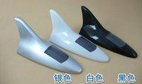 Wholesale 10PCS Car Solar LED Tail Light Shark Fin Decorative Antenna Decor Silver Tone Anti Rear end Tail Light